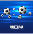 shiny blue football tournament cup background vector image vector image