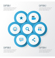 social colorful icons set collection of dialog vector image vector image