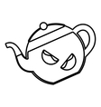 tea citrus fruit beverage icon vector image vector image