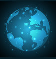 technology future abstract world globe vector image vector image