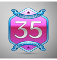 Thirty five years anniversary celebration silver vector image vector image