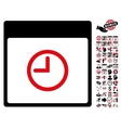 Time Calendar Page Flat Icon With Bonus vector image vector image