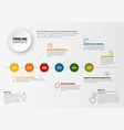 timeline template with circles vector image vector image