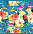 tropical pattern with birds vector image