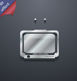 TV icon symbol 3D style Trendy modern design with vector image