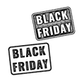 Two black realistic Black Friday stamps vector image