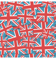 uk flag pattern vector image vector image