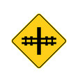 usa traffic road signsrailway crossing ahead vector image vector image