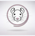 white rat symbol year vector image vector image