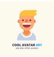Young blonde guy friendly smiling icon vector image vector image