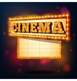 Retro cinema sign vector image
