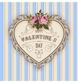 Vintage Valentines Day greeting card With Roses vector image