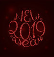 2019 new year calligraphy vector image