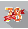 78th Years Anniversary Celebration Design vector image vector image