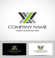 Abstract business card company vector image