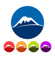 abstract snowy summit mountain icons vector image
