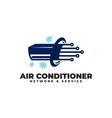 air conditioner network logo vector image vector image