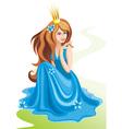Beautiful Princess Sitting vector image vector image