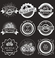 bicycle rental vintage badges labels vector image