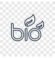bio energy linear icon isolated on transparent vector image