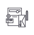 branding accessoriesmail document pencil vector image