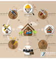 business and real estate flat icon infographic vector image