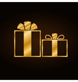 Christmas gold gift vector image