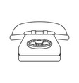 classic telephone communication call device retro vector image vector image