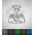 commander icon vector image