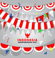 decorative indonesia flag background vector image vector image