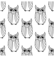 Eagle owls seamless pattern background vector image vector image