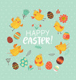 easter card with birds and flowers vector image vector image