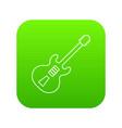 electric guitar icon green vector image vector image
