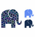 elephant composition icon spheric items vector image vector image