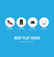 flat icon garment set of heeled shoe pants vector image vector image