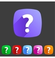 Flat icon question vector image vector image