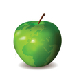 green apple world map vector image vector image