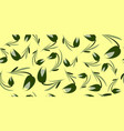 green flowers and tulips on a lemon background vector image