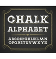 Hand drawn alphabet on chalkboard