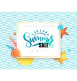 hand lettering summer sale banner vector image vector image