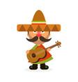 hot mexican in sombrero vector image vector image