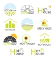 Hothouse Hothouses collection vector image vector image