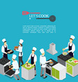 Isometric professional cooking template