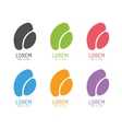 leaf abstract logo template set Shape and vector image vector image