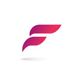 Letter F wing flag logo icon design template vector image vector image