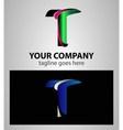 Letter T logo symbol design template elements vector image vector image
