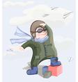 little pilot boy vector image