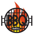 logo bbq grill on white background graphic vector image vector image