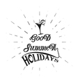 logo vintage retro good summer holidays vector image