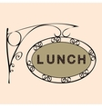 lunch retro vintage street sign vector image vector image